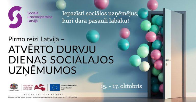 Pirmo reizi Latvijā norisināsies Atvērto durvju dienas sociālajos uzņēmumos